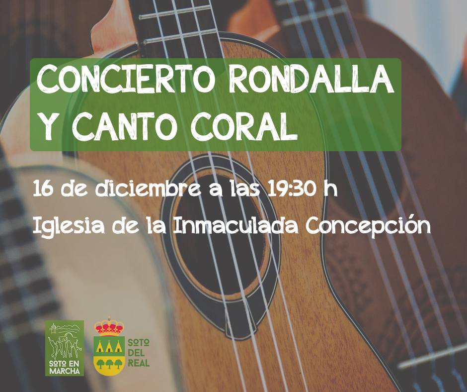 Cartel Concierto Rondalla y Canto Coral