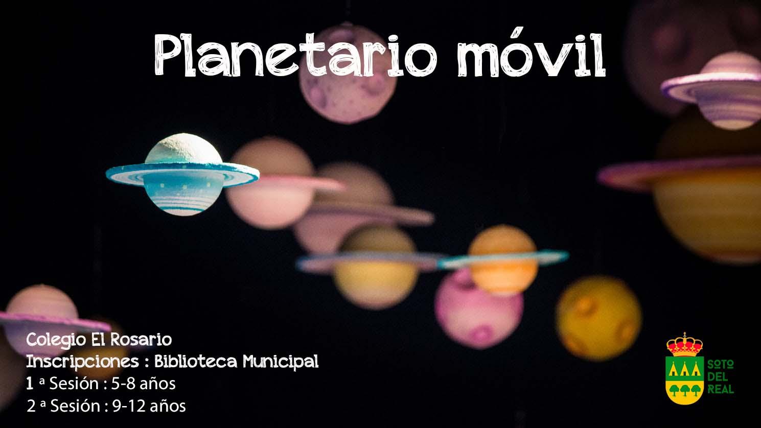 Cartel Planetario móvil